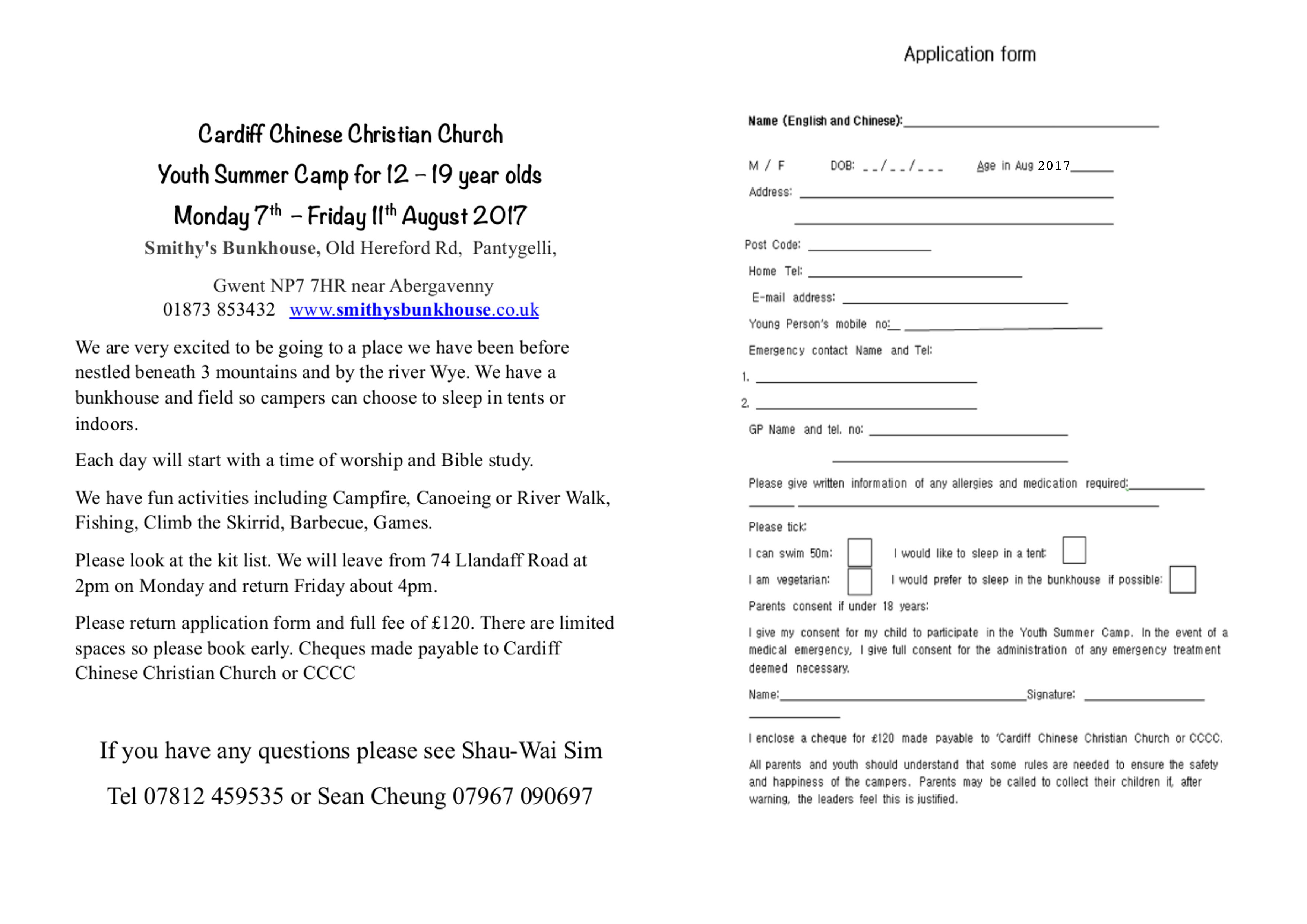 Best Free Fillable Forms Summer Camp Application Form Free